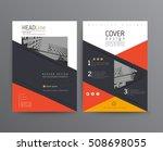 business template for brochure  ... | Shutterstock .eps vector #508698055
