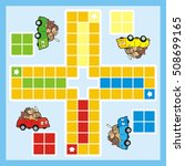 ludo  car and animals  vector... | Shutterstock .eps vector #508699165