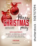 merry christmas party poster... | Shutterstock .eps vector #508707094