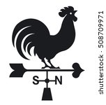 Weather Vane Rooster. Vector...