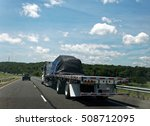flatbed semi transporting... | Shutterstock . vector #508712095