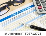 loan application form with... | Shutterstock . vector #508712725