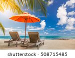 tropical vacation background... | Shutterstock . vector #508715485