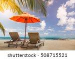 amazing beach in maldives.... | Shutterstock . vector #508715521