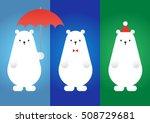 Set Of Vector Polar Bear   Ice...