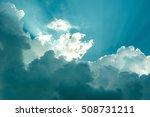 beautiful blue sky sunbeams and ... | Shutterstock . vector #508731211