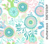 seamless vector coral pattern.... | Shutterstock .eps vector #508733569