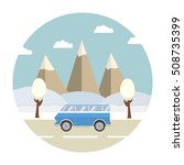 winter forest landscape.vector... | Shutterstock .eps vector #508735399
