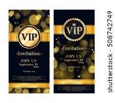 vip party premium invitation... | Shutterstock .eps vector #508742749