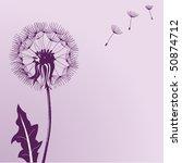 illustration of blow dandelions ... | Shutterstock .eps vector #50874712