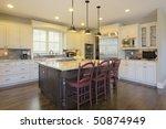 luxury kitchen with center... | Shutterstock . vector #50874949
