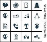set of human resources icons on ... | Shutterstock .eps vector #508749655