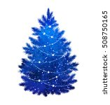 blue silhouette of christmas... | Shutterstock .eps vector #508750165