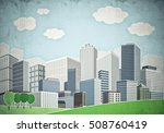 illustration of cityscape with... | Shutterstock . vector #508760419