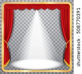 vector red stage with one white ... | Shutterstock .eps vector #508770391