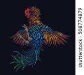 vector color rooster...   Shutterstock .eps vector #508774879
