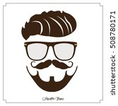 isolated hipster portrait on a... | Shutterstock .eps vector #508780171