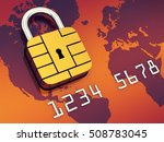 credit card security chip as... | Shutterstock . vector #508783045