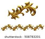 golden  ornamental segment  ... | Shutterstock . vector #508783201