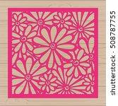 die cut card. laser cut vector... | Shutterstock .eps vector #508787755