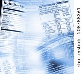 nutrition information facts on... | Shutterstock . vector #508788361