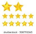 gold stars icons on white... | Shutterstock .eps vector #508793365
