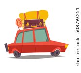 car for traveling. vehicle... | Shutterstock .eps vector #508796251