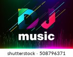 equalizer background. dj music. ... | Shutterstock .eps vector #508796371