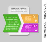vector infography template  two ... | Shutterstock .eps vector #508797964