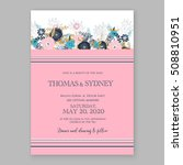 wedding invitation printable... | Shutterstock .eps vector #508810951