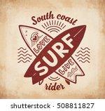 red crossing surfing boards...   Shutterstock . vector #508811827