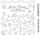 set of cute doodles of... | Shutterstock .eps vector #508820335