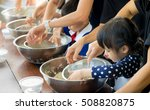 asian kid and family is... | Shutterstock . vector #508820875