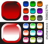 set of colorful button  icon...