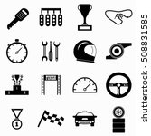 race icons set. simple... | Shutterstock . vector #508831585