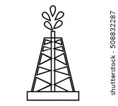 drilling of oil well icon.... | Shutterstock . vector #508832287