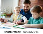 learning to draw | Shutterstock . vector #508832941