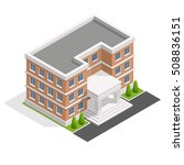 isometric school or university.... | Shutterstock .eps vector #508836151