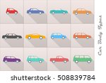 vector stylized different types ... | Shutterstock . vector #508839784