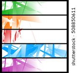 banner templates with abstract...