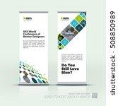 vector set of modern roll up... | Shutterstock .eps vector #508850989