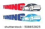 tuning car logos  emblems ... | Shutterstock .eps vector #508852825