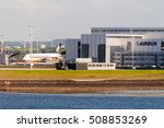 Small photo of Hamburg, Germany - May 14, 2011: A Singapore Airlines plane is being fitted in front of the Airbus plant in Hamburg Finkenwerder. Airbus with its headquarters in Toulouse, France, is the largest