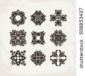 set of ornate vector mandala... | Shutterstock .eps vector #508853437