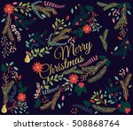 vector set of floral... | Shutterstock .eps vector #508868764