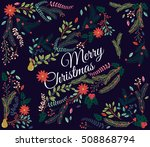 vector set of floral... | Shutterstock .eps vector #508868794
