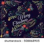 vector set of floral...   Shutterstock .eps vector #508868905