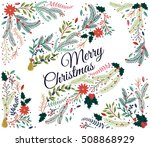 vector set of floral... | Shutterstock .eps vector #508868929