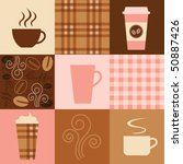 vector illustration of coffee... | Shutterstock .eps vector #50887426