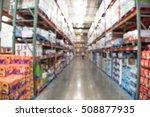 blurred image of shelves in... | Shutterstock . vector #508877935
